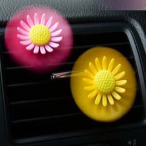 Car Air Conditioning Vent Perfume Rotating Small Flowers Car Fragrance Except Odor Air Outlet Decoration Solid Aroma 20 Pairs