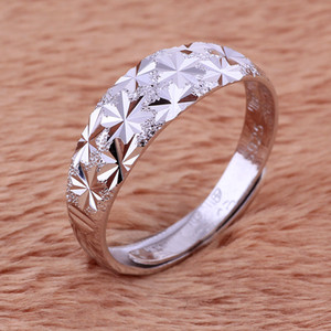 2018 New 925 Sterling Silver Star lovers Couple Ring Finger Adjustable ring