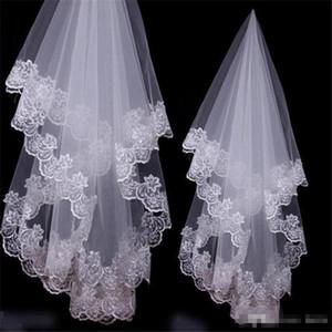 Heißer Verkauf Weiß Elfenbein 1,5m Spitze Brautschleier Moderne Förderung One-schüchterner Spitze Hochzeitsschleier Custom Made Brautzubehör