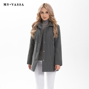 MS VASSA Donne di alta qualità Parka Low Price Liquidazione Autunno Inverno Classico Ladies Jacket Micro Moss Padding Coat S18101503