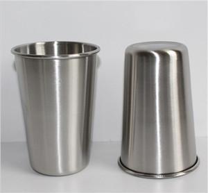 أرخص 16OZ طبقة الفولاذ المقاوم للصدأ البيرة كأس 16OZ واحدة العقص البهلوانات الاطفال غير قابلة للكسر بهلوان الحليب كوب 500ML البيرة القدح
