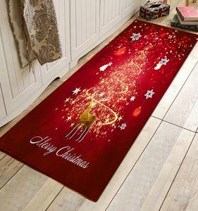 Felices decoraciones de la Navidad de la alfombra de la puerta de Santa Claus de la franela de Santa Claus al aire libre para el hogar Favores de partido de Navidad