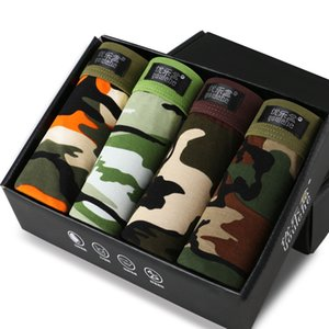 Wholesale-youlehe 4 pieces NEW Men's Underwear Modal Men Boxer Shorts Plus Size Boxer Tide men camouflage Boxer Homme Cueca Underpants