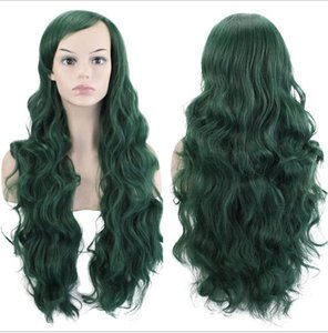 Women Long curly Cosplay Natrual Black Light Brown Dark Brown 70 Cm Synthetic Hair Wigs 29 color Anime wig