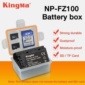 도매 5 PCS np fz100 NP-FZ100 NPFZ100 배터리 플라스틱 케이스 홀더 상자 ILCE-9 A7m3 a7r3 A9 7RM3 마이크로 배터리 상자