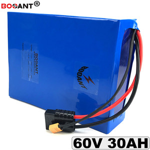 60V 30AH E-Bici Li-ion Batería 16S 60V bicicleta eléctrica Batería de litio para Bafang BBSHD 1500W 2500W Motor + cargador 5A