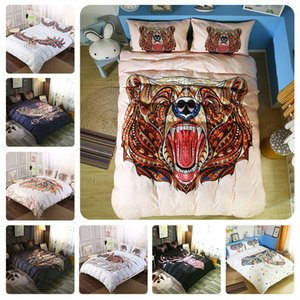 Wholesale- Free Shipping 2018 New 4 3pcs Galaxy 3D Bedding Sets Universe Outer Space Duvet cover Bed Sheet   Fitted Bed Sheet pillowcase