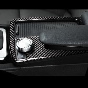 Para Mercedes Benz C Classe E W204 W212 Coupé De Fibra De Carbono Car Gearshift Painel Quadro Water Cup Holder Cover Guarnição tira adesivo acessórios