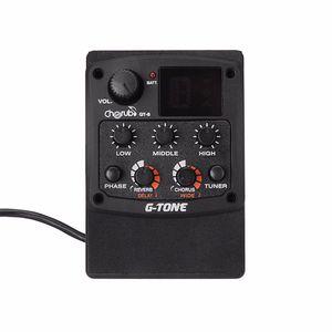 Querubín GT-6 G de Tono de la Guitarra Acústica Piezo Preamplificatore Tuner Pickup LCD con Reverb / Delay / Chorus / Ancho
