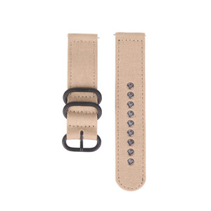 Khaki Green Black High Quality Quick Release Canvas Zulu Strap Watch Band in PVD-Black-Rings 18 20 22mm Free Shipping 2pc lot