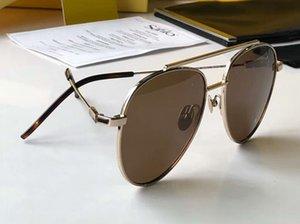 Mens 0222 / S 0222 Marrom / Ouro Marrom Piloto Sunglasses 56mm Unisex óculos de sol Óculos de Condução Óculos de Moda de Nova em caixa