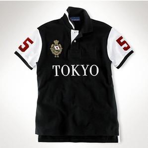 Bordado manga curta poloshirt homens tshirt Tokyo Roma Dubai Los Angeles Chicago New York Berlin Madrid camisetas M L XL 2XL dropshipping