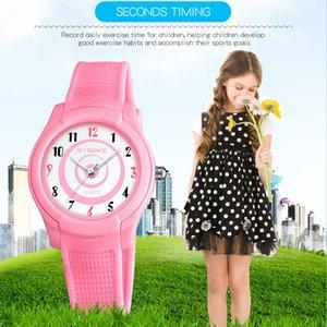 SYNOKE новый ультра-тонкий водонепроницаемый детские часы мода тонкий концепция студенты кварцевые часы мальчик девочка 9588
