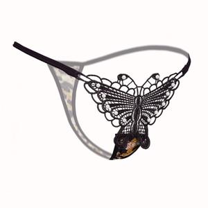Lace G-String Frauen Sexy Schmetterling Unterwäsche Intimate Low-Waist Thongs G String Panty Damen Frauen Stickerei Unterwäsche Dessous Höschen