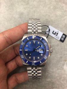 2018 New Rolse U1 Factory Sumergible 116619LB Presidential Five beads Blue Crown zafiro Original hebilla Asia Original 2813 Movimiento reloj
