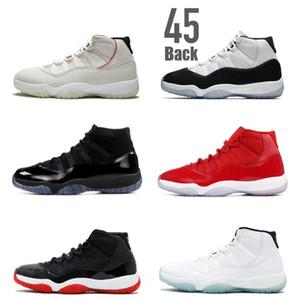 11 concord 45 back Platinum Tinta Scarpe da basket 11s 72 10 allevate Leggenda gamma blue space jam XI uomini donne Versione Advanced Quality