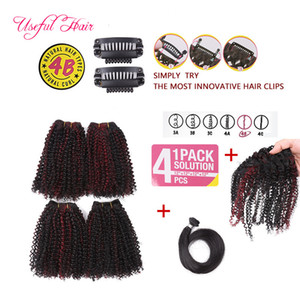 bangs use clip in short hair weaves 12inch synthtetic hair bulks weaves hair bundle synthetic braiding for black women 220g one lot