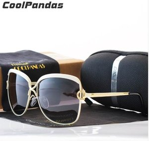 Coolpandas HD polarisierte Sonnenbrille Frauen Retro-Metallrahmen Sonnenbrillen Famous Lady Geschenk Oculos Feminino D UV400