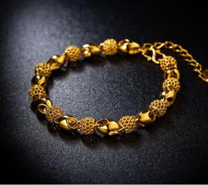 Altın kaplama Vietnamca kum altın bilezik Eski içi boş bilezik bayanlar Çapraz sınır patlama aksesuarları