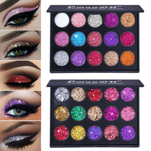 CmaaDu 15 Couleurs de diamant Glitter fard à paupières lumineux Shimmer Matte Eye Ombre Mettre en évidence Poudre de beauté cosmétiques Palette de maquillage