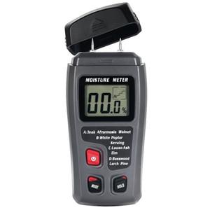 EMT01 0-99.9% Dois Pinos Digital de Umidade Da Madeira Medidor de Umidade Tester Detector de Umidade de Madeira 0.5 por cento Medidor de Umidade de Precisão