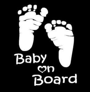 Special Car Stickers English Words Baby On Board With Baby Footprint Prompt Body Dacel 20Pcs Lot