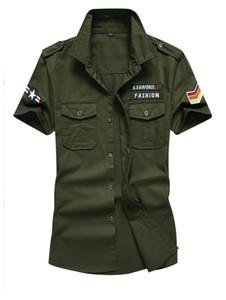 M-6XL Big Size Herren Sommer Cargo Shirts Herren Outfit Mit Taschen Shirt Weiblich Cool US Style Wear