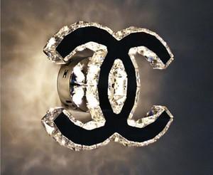 Lâmpada de Cristal de Aço inoxidável Moderna CONDUZIU a luz AC110-260V Cristal Arandelas Do Banheiro Lampara de pared de cristal para iluminação de casa Quarto