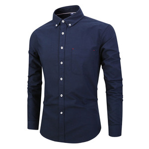 Top Quality Cotton Long Sleeve Groom Shirt Men Small pointed collar fold Formal Occasions Dress Shirts