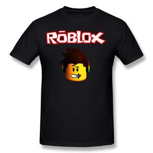 Drop Shipping мужчины 100% хлопок Roblox робот игра Майка мужчины шею белый с коротким рукавом футболки 3XL семья футболка