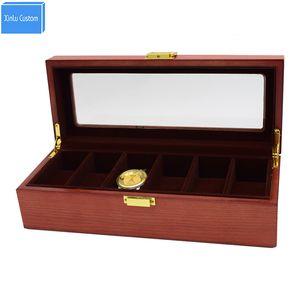Brand Fashion 6 Slot Solid Wooden Watch Box Kol Saati caja reloj Watch Organizer Case Cajas de Regalo caixa para relogio Gift Watches Holder