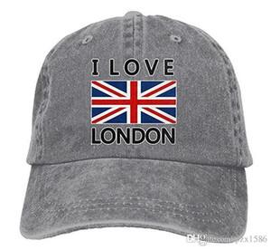 pzx @ Baseball Cap For Men، I Love London City Mens Cap Cotton Jeans Hat Hat متعدد الألوان اختياري