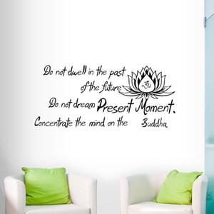 Geçmişte Kalma Duvar Çıkartmaları Buda Atasözü OM Sembol Lotus Duvar Çıkartmaları Vinil Tırnak Sticker