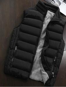 Giacca da uomo Gilet senza maniche Moda invernale Casual Cappotti slim Abbigliamento Gilet da uomo imbottito in cotone Gilet da uomo Commercio all'ingrosso di grandi dimensioni