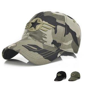 2017 мода мужчины Cap камуфляж пять остроконечная Звезда вышивка Snapback бейсболка хип-хоп шапки для мужчин и женщин