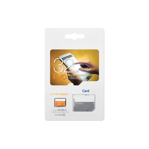 2018 new Orange EVO 64GB 128GB C10 TF Flash Memory Card Class 10 Free SD Adapter Retail Blister Package Epacket DHL Free Shipping