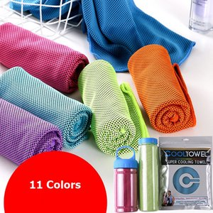 11 couleurs de refroidissement serviette Ice froid Refroidir froid serviette séchage rapide Gym Exercise Sweat Summer Heat Relief Serviette 90x30cm
