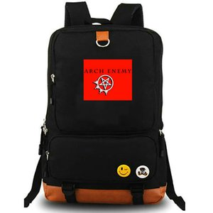 Arqui-inimigo mochila Michael Amott daypack queima rock band mochila Laptop mochila de lona mochila pacote de dia ao ar livre