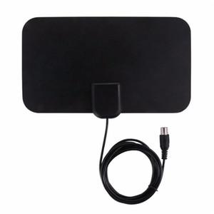 SOONHUA Receptor de antena de TV digital para interiores 50 millas Amplificador Antena activa HD Diseño plano 25DB Alta ganancia EE. UU. Enchufe para HDTV DTV Box