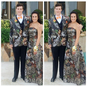 2018 Camo Jacket Wedding Tuxedos Formal Men Suits Best Fitted Camouflage Groomsman Formal Tuxedos Custom Man Wear (Jacket+Vest+Pant+Bow)