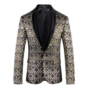 M ~ 5XL 2018 cabelo roupas de moda masculina NOVO estilista Inglês versão do estilo coreano impressão de veludo terno fino trajes Jacket