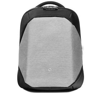 HAGA CLIC 17.3L 15.6 pulgadas Hombres Anti Theft Laptop Backpack mochila de almacenamiento impermeable con puerto de carga USB para viajes de negocios de la ciudad