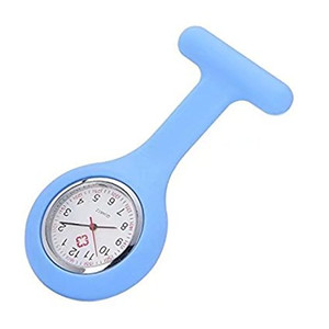 Promotion!Colorful Nurse Brooch Fob Tunic Watch Silicone Cover Nurse Watch Christmas Gift Free DHL Shipping