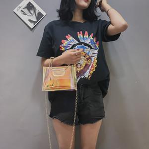 Katze Metall Griff Design Handtaschen Mini Kette Klare Kupplung Umhängetaschen Transparente Kreative Mode Umhängetasche Frauen 10sw jj
