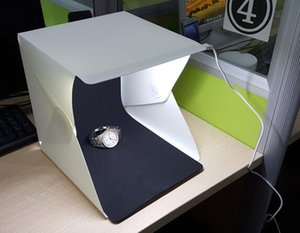 1 Set / Lot Mini Photo Studio Box Fotografía Telón de fondo Luz incorporada Photo Box Pequeños artículos Photo Box Studio Accesorios
