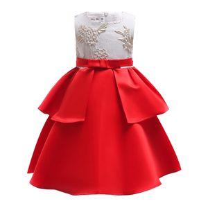 Designer Baby Girl Dresses 2019 Lace Wedding Party Dressses Layer Cake Butterfly Net Gauze Fashion Flower Girls Evening Princess Dress