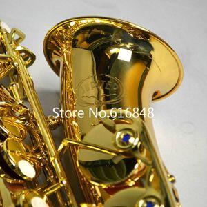 Frete grátis JUPITER JAS-769 New Professional Musical Instrument Alto Eb Tune saxofone ouro Lacquer Sax com caso Bocal