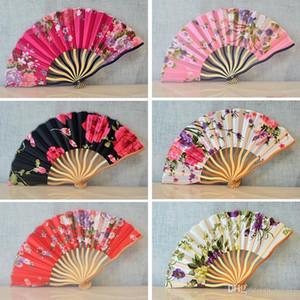 Doğum Günü Partisi İçin Bayanlar Klasik Katlanır Fan Kulp Kiraz Çiçekleri Çiçek Desen Japon Stili Bambu Hayranları Hediye 3 7mq Ii Favor