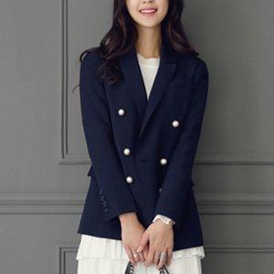 VANLED 2017 Vente Chaude Corée Style Femmes Bureau Mode Élégant Blazers De Travail Des Femmes Perle À Double boutonnage OL Blazer Costumes Z100
