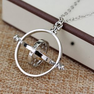 Dongsheng Film Bijoux HP Collier Hermione Granger Rotating Spins Or Hourglass nacklace -30